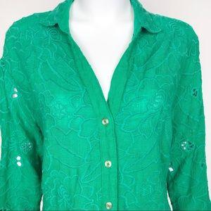 Anthropologie Tops - Anthropologie AKEMI + KIN Green Floral Tunic TOP